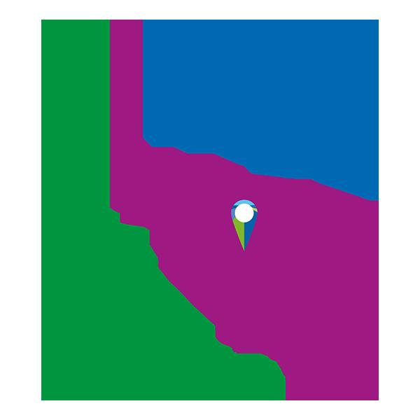 Kaart Midden Flevoland