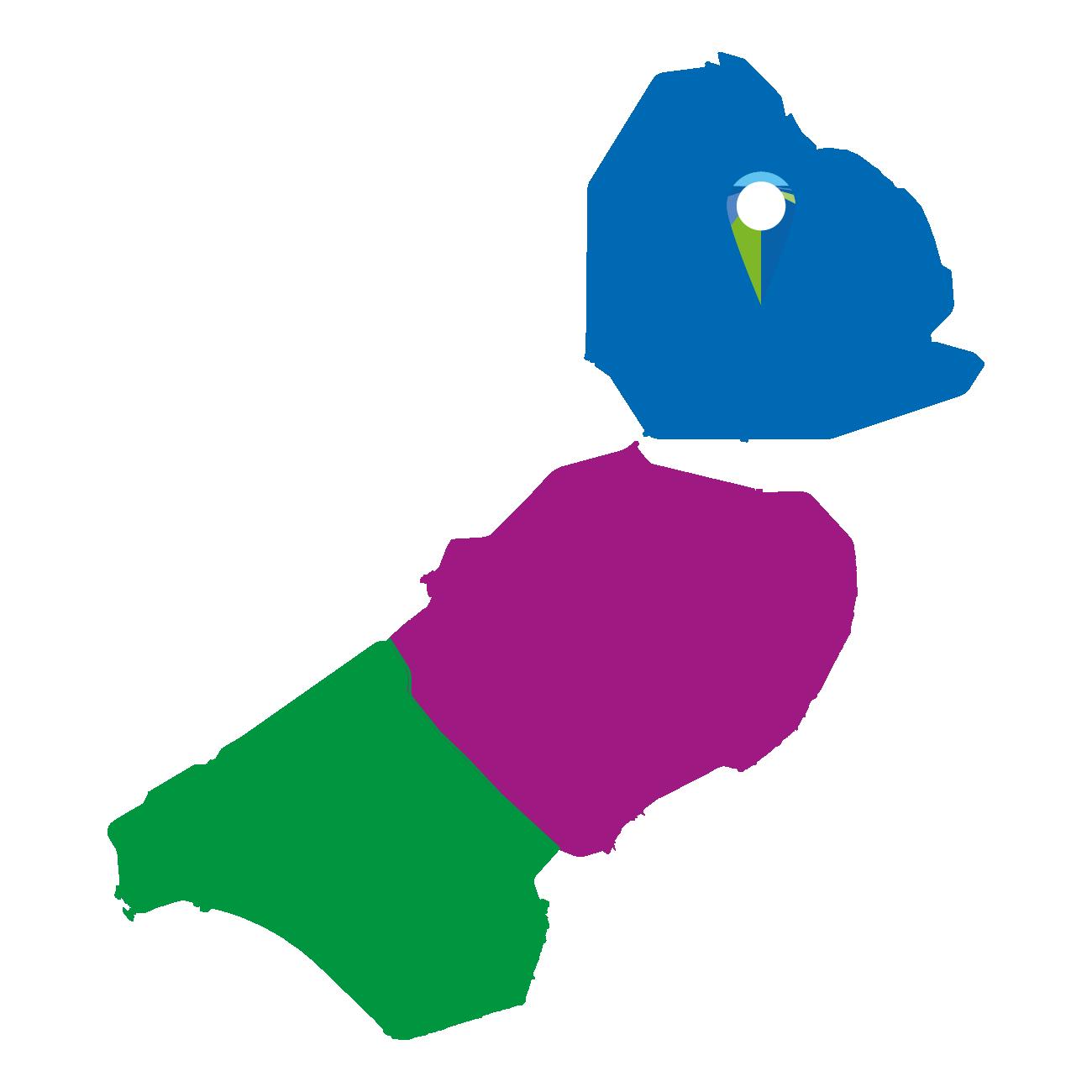 Kaart Noordelijk Flevoland