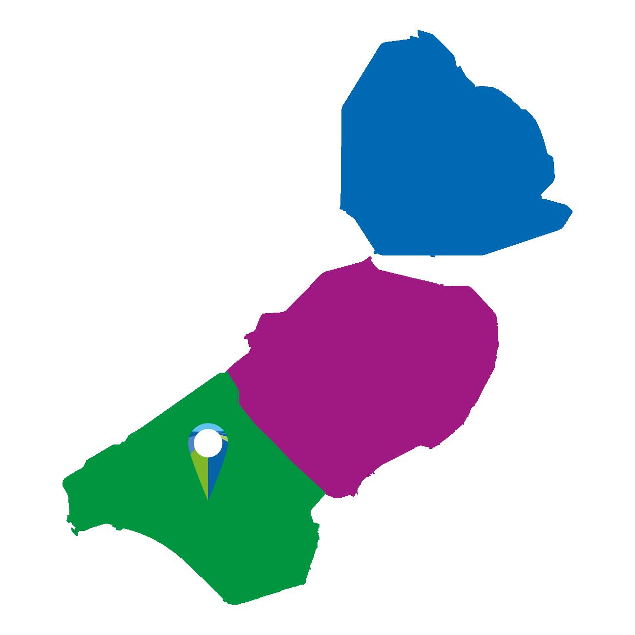 Kaart Zuidelijk Flevoland